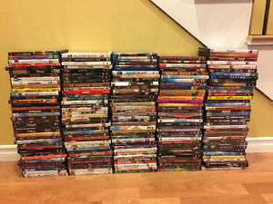 185 DVDs - perfect for camp for adults and kids!