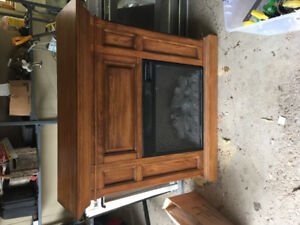 Oak framed Electric Fireplace