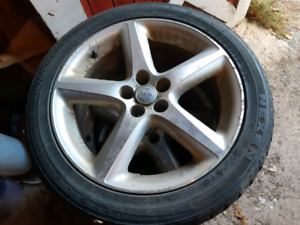 Studded winter tires on Toyota 5x100 rims