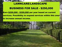 LAWN CARE / LANDSCAPE Business for sale - Earn $350K+/yr