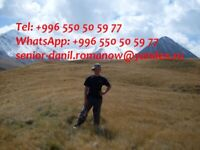 guide, driver in Kyrgyzstan, travel, hiking, excursions, tourist