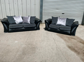 Black & grey fabric 3+2 seater sofas couches suite 🚚🚚