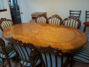 Made in Italy luxury  dining table/chair set