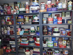 Tins and Cans of all kind for the collector in you!!