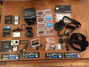 Camera GoPro Hero2 et accessoires