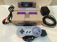 Super Nintendo SNES Console and Super Mario World!