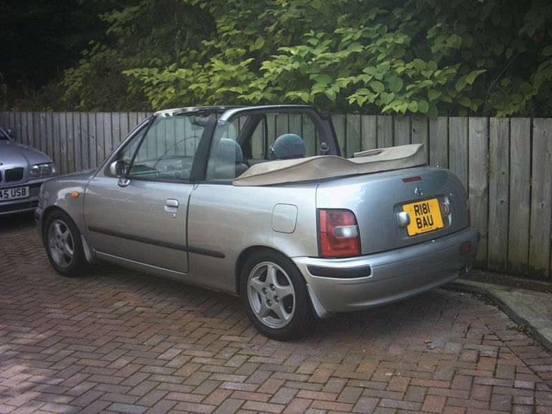 1997 r nissan micra 2dr convertible 1 3 16v very rare. Black Bedroom Furniture Sets. Home Design Ideas