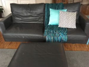 Gray Leather Couch Set - NEW PRICE