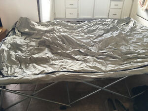 Camping cot and queen air mattress