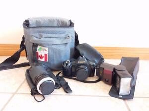 Canon T70 film Camera kit