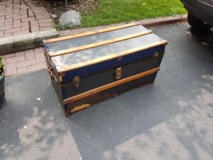antique shipping trunk