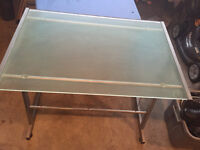 Frosted glass top desk for sale.