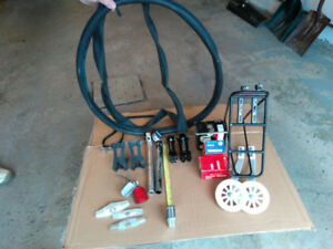 Misc bicycle parts.  Please see photos