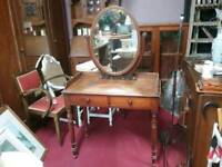 SALE NOW ON!! Vintage Dressing Table with 2 Drawers - Can Deliver For £19