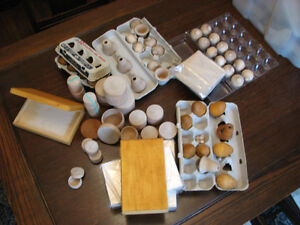 Assorted woodcraft to finish/decorate/sell