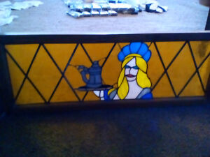 Stained glass   Small crack    $40.00