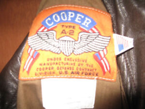 @@NEW PRICE@@  COOPER A2 ,US AIR FORCE LEATHER GOATSKIN JACKET