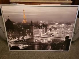 Large framed IKEA Paris Picture