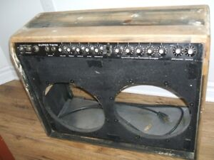 PROJECT 1976 Fender Super Twin Tube Guitar Amp