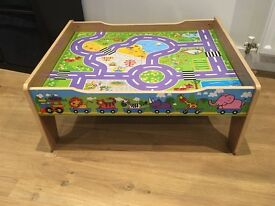 Wooden train/play table