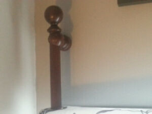 Wooden Curtain Rod with brackets