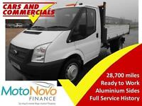 2014 14 FORD TRANSIT TIPPER 350 MWB 1-WAY 1-STOP 100PS 2.2 DIESEL