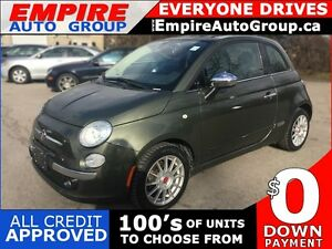 2012 FIAT 500 LOUNGE * LEATHER * SUNROOF * BLUETOOTH