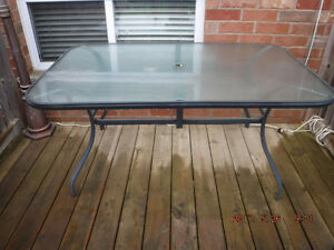 Patio / Outdoor glass table