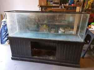 125 Gallon Tank + Stand and Canopy + Salt accessories