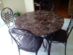 Vintage Chrome Formica Table Chairs Retro