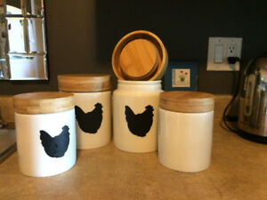 Kitchen Counter Canisters ( New)