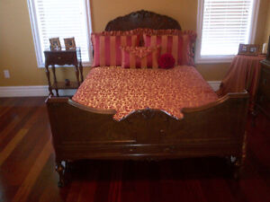 Custom Made Double Bed Spread with 5 pillow covers