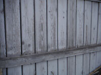 Scrap lumber - old fence boards