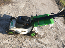 Etesia self-propelled mower.