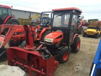 Ck20 kioti fromt mount blower with can and heat
