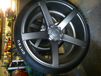 """20 """" Ruffino rims and tires, BARELY USED!"""