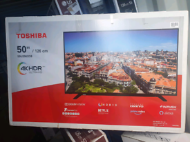 TV 50INCH TOSHIBA BRAND NEW SMART WIFI 4K ULTRA HD HDR