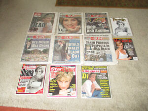 LADY DIANA'S 1961-1997 --11 Papers covering Lady Diana's Death