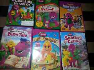 Wiggles and barney dvds