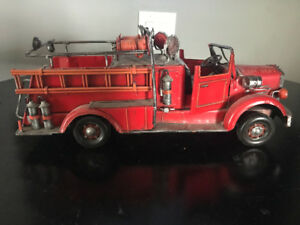 Metal Fire Truck - Vintage, Collector, Decoration or Toy