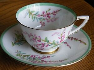 Royal Doulton Bell Heather Teacup and Saucer.