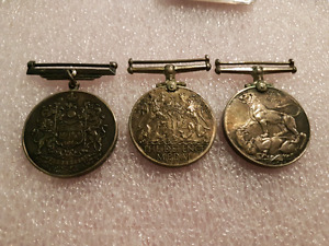 Canada WWII Military Service Sterling Silver Medals