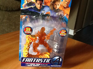 2005 FANTASTIC FOUR HUMAN TORCH FIGURE WITH LIGHTS AND SOUNDS London Ontario image 1