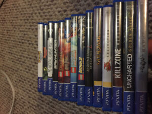 14 PSvita games with 32GB memory card (Need Quick Sale)