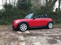 2006 06 MINI COOPER S CONVERTIBLE CHILLI PACK CHILLI RED ONLY 25000 MILES