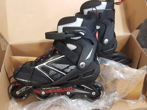 Brand new rollerblades. Still In box. Used once. looking2trade.