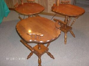THREE Solid Maple Tables - $30 for the set Cornwall Ontario image 2