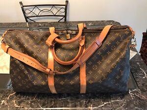 """Authentique sac de voyage bandoulière 55"""" Louis Vuitton"""
