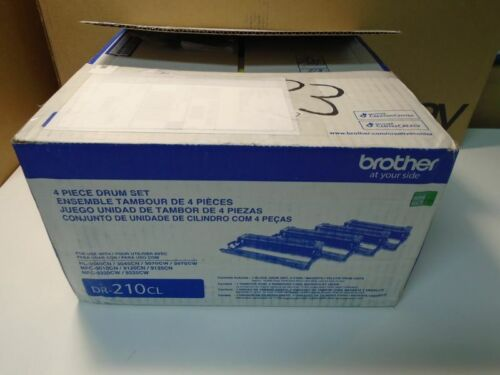 Genuine Brother OEM DR-210CL 4 Piece Replacement Drum Set BK, C, M, Y - Open Box