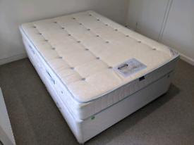 Double bed divan with mattress